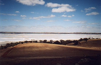 A very dry Lake Dumbleyung, November 2001